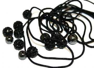 DIY Pave Crystal Bracelet Kit - Black - SC